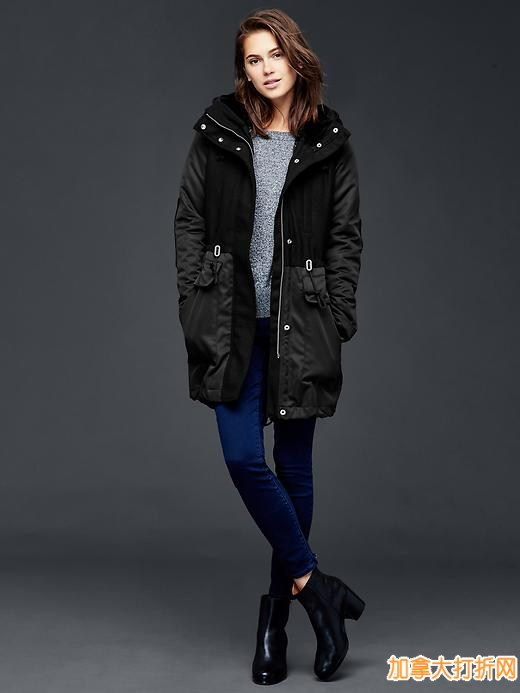 GAP 精选上百款女性及儿童冬季防寒服4折起特卖,满100元立减40元!