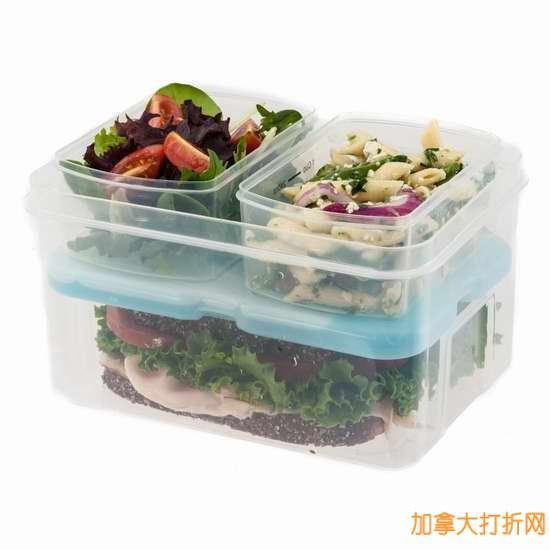 Fit & Fresh 飞度午餐保鲜盒套餐,含保冷冰袋12.99元限量特卖!