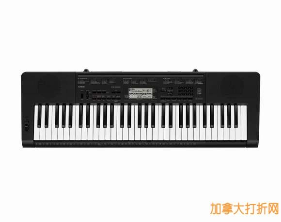 强大教学和娱乐功能,让学音乐更加有趣!Casio 卡西欧 CTK-3200 仿钢琴力度键电子琴3.8折99.99元历史最低价限时特卖并包邮!