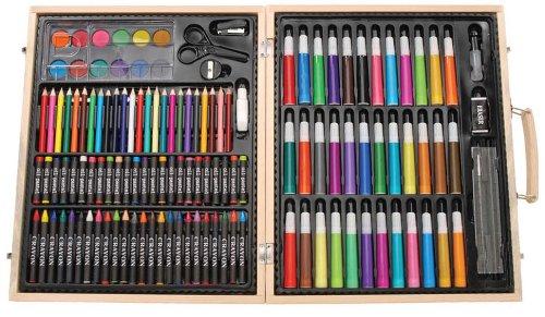 Darice 儿童131件画笔木盒豪华套装 21.09元,原价 53元