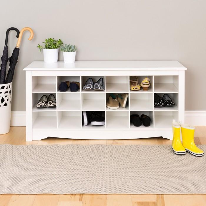 Prepac Shoe Storage Cubbie Bench鞋柜(三种颜色可选)特卖134.98元,原价206元,包邮