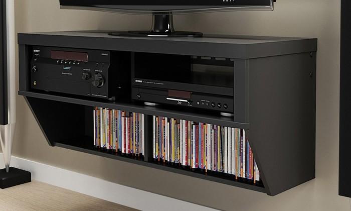 Prepac Black 42英寸宽壁挂式AV控制台特价134.99元,原价223.94元,包邮