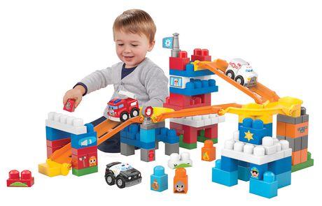 Mega Bloks First Builders 100pcs 快速轨道救援队积木玩具特价16元,原价32.98元