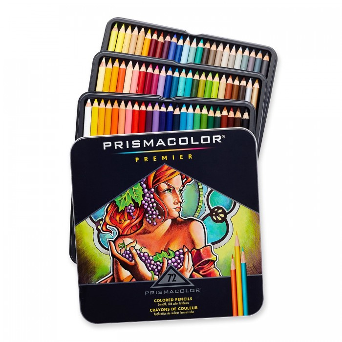 史低!PRISMACOLOR PREMIER  3599TN 72色彩色铅笔、画笔套装 49.99元,原价157.69元,包邮