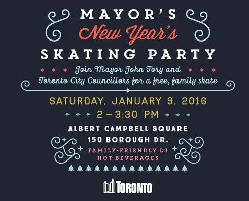 1月9日免费和市长一起参加滑冰派对!