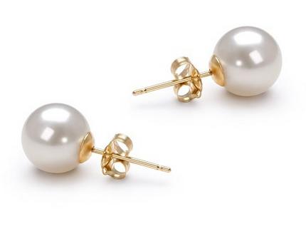 PearlsOnly 7-8mm AAAA优质淡水珍珠耳环套装特价95元,原价609元,包邮
