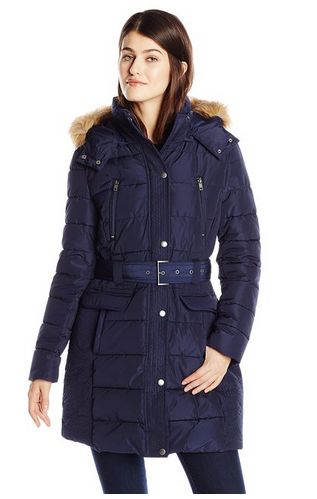 Tommy Hilfiger 女士中长款防寒服(两种颜色可选)特价125元,原价415元,包邮