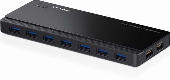 历史最低价!读写充电两不误!TP-Link UH720 USB3.0 7口+2口快速充电 USB集线器5折 39.99元限时特卖并包邮!