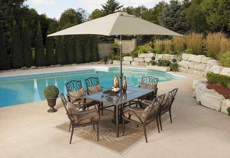 Walmart 三款Hometrends庭院餐桌椅套装4.2折175元起清仓