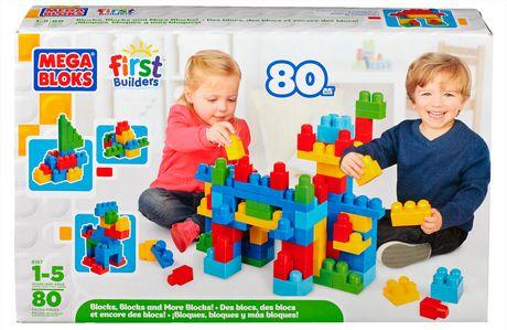 Mega Bloks First Builders Fun Endless Building Box Set 80pcs 积木套装10元特卖!