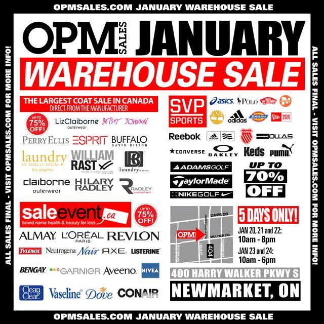 OPM 2016年1月特卖会今日开卖!Adidas、Puma、Reebok等品牌鞋子服饰3折起特卖!(1月20日-24日)