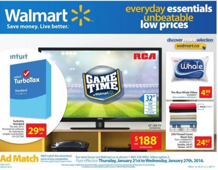 Walmart超市本周(2015.1.21-2015.1.27)打折海报