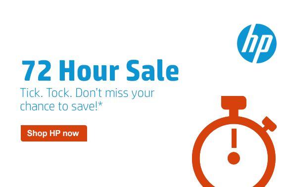 HP 72小时限时特卖现在开售,指定款笔记本电脑、台式机、打印机、电脑配件、背包等特价销售,最高立减250元!满60元再立减10元!
