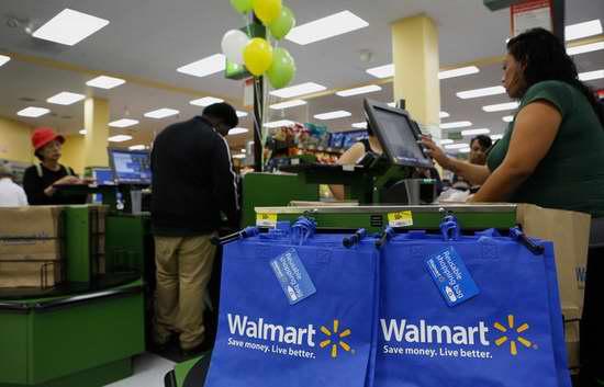 Walmart倡导环保,2月9日起每个购物塑料袋收费5分,环保可再利用购物袋限时0.25元特卖!