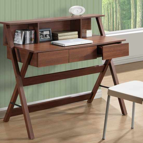 CorLiving WFP-720-D 三抽屉书桌/办公桌5.7折 171.49元特卖并包邮!