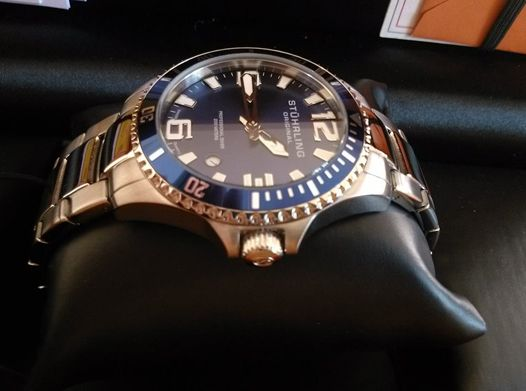 Stuhrling Original 395.33U16 男式专业潜水石英腕表1折 56.99元限时特卖并包邮!