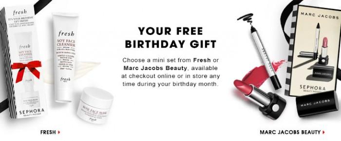 Sephora丝芙兰推出两款免费生日礼包,生日当月可免费索取,网店另有多个优惠和赠品!