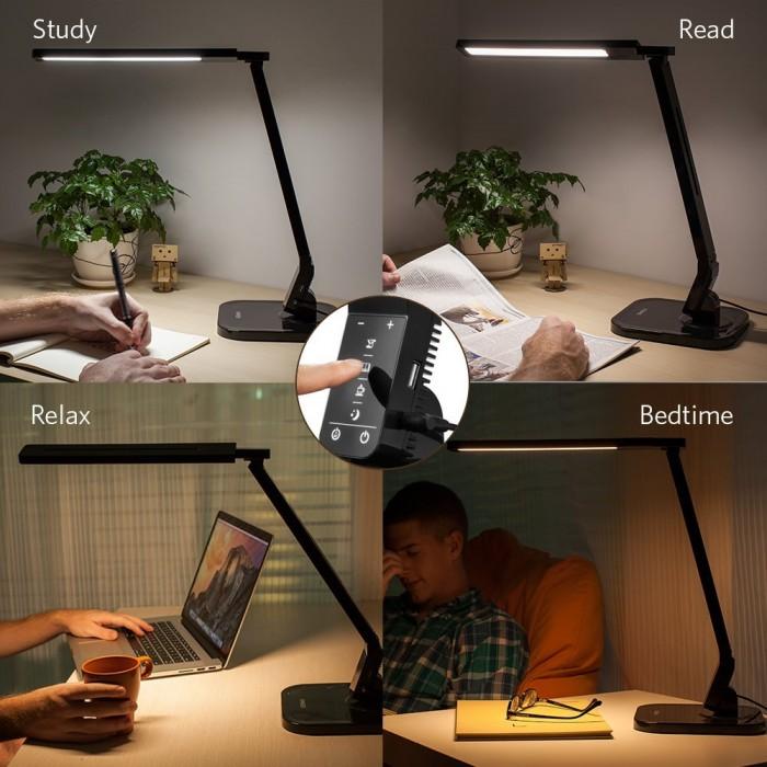 光线柔和,保护视力!Anker Lumos多功能触控式LED护眼节能台灯(内置定时器、USB充电)47.99元特卖!