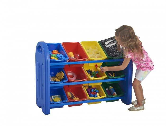 ECR4Kids 3层12个玩具储物收纳盒特价79元,原价111.99元,包邮
