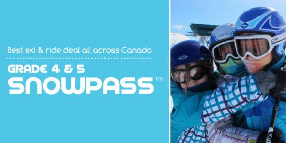 又到滑雪季!加拿大4-5年级(8-9岁)学生Snow Pass滑雪证29.95元全国通用!