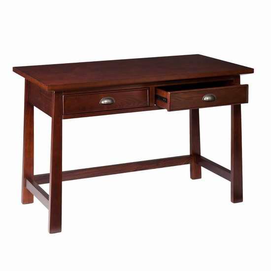 Southern Enterprises Cabello 咖啡色办公桌/电脑桌2.6折 109.97元限时特卖并包邮!