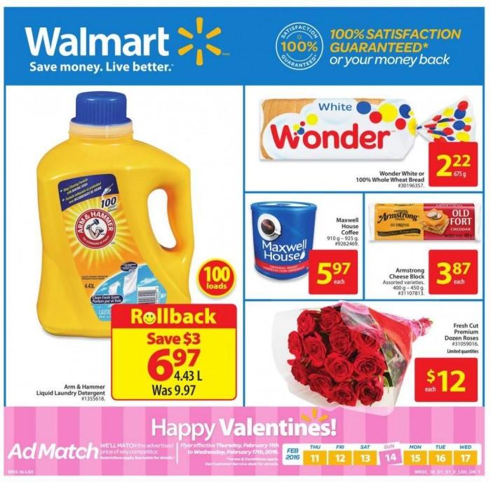 Walmart超市本周(2015.2.11-2015.2.17)打折海报