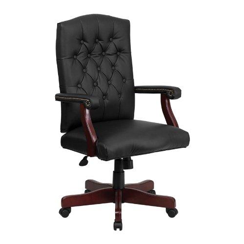 Offex 801L-LF0005-BK-Lea-GG 豪华黑色复合皮高靠背办公转椅2.6折 164.88元限时特卖并包邮!