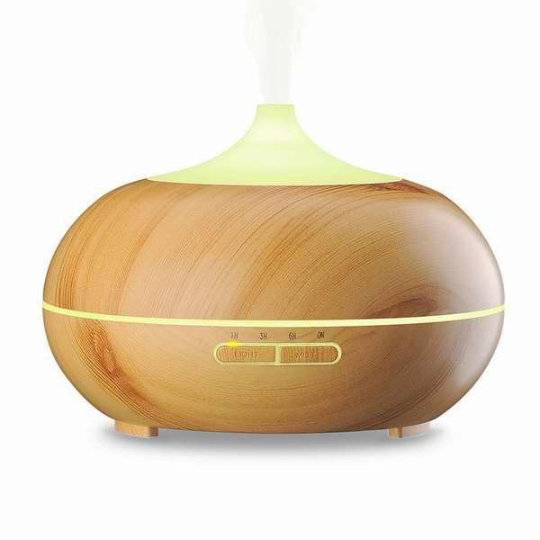 金盒头条:VicTsing 300ml 木纹香薰/精油加湿器 29.99加元,原价 44.99加元
