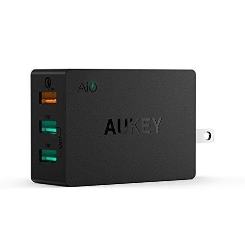 更小、更快,旅充新选择! Aukey 42W QC2.0三口旅行充电器3.9折 13.29元限量特卖!