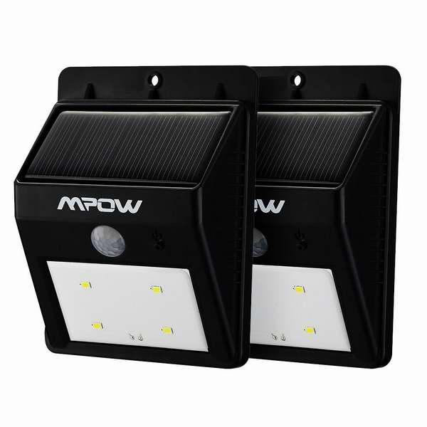 Mpow 8 LED超亮太阳能防水运动感应灯两件套4折 28.04元限量特卖并包邮!