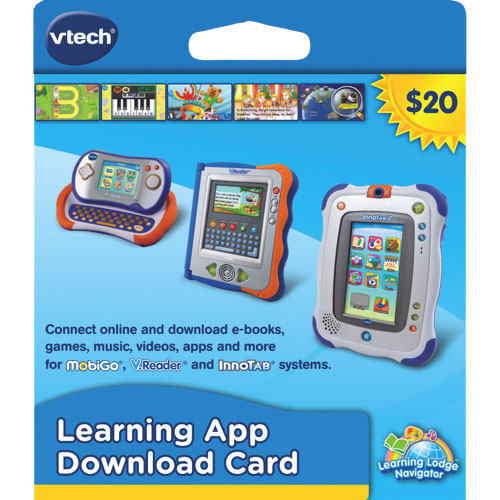 VTech $20 Learning App Download Card 软件下载卡3.5折 6.99元限时特卖!