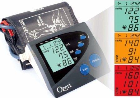 历史最低,超大折扣,历史最低价再降53元!Ozeri BP4M 上臂式电子血压计 历史最低价0.7折9.95元限时特卖!可测心率失常!