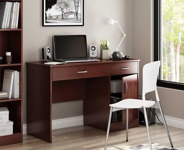 South Shore 带2抽屉1柜子1.2米皇家樱桃色书桌77.99元限时特卖并包邮!