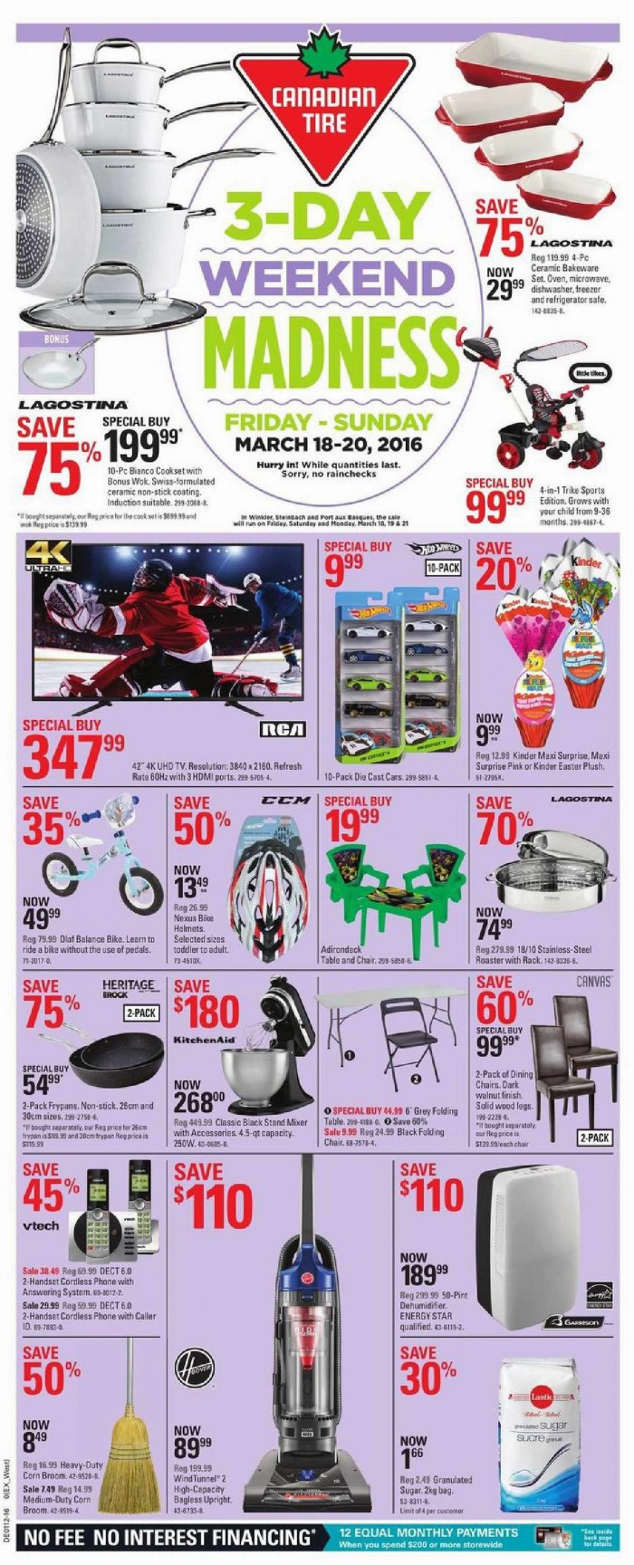 Canadian Tire 本周(2016.3.18-2016.3.24)打折海报