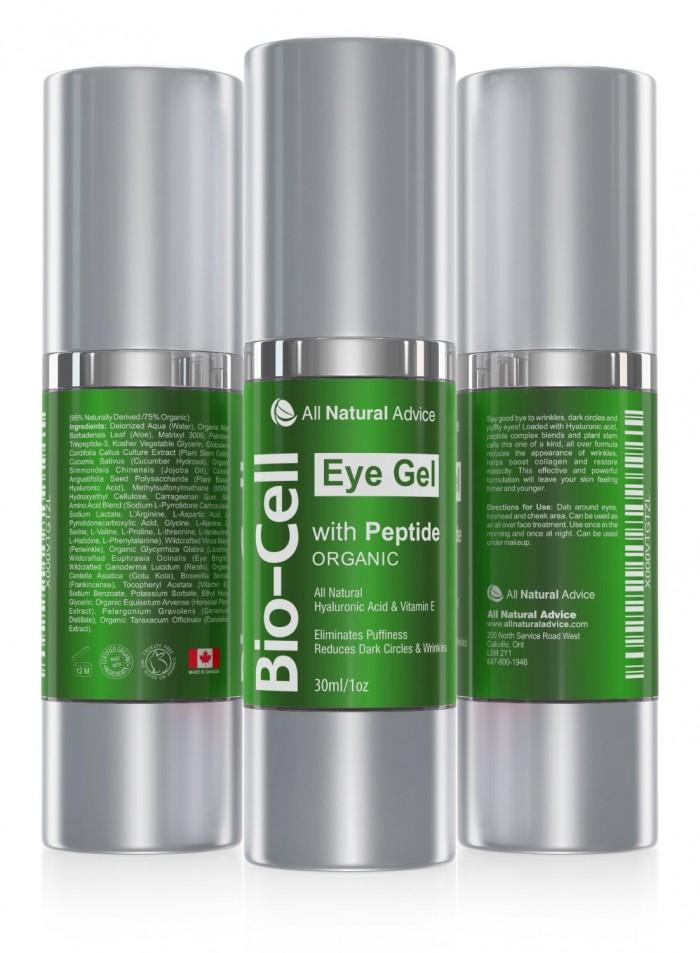 有机认证,全天然抗衰老护肤品!All Natural Advice 30毫升肽+玻尿酸+植物干细胞抗皱保湿眼霜25.4元包邮!