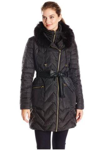 Via Spiga 女士带帽防寒服63.75元特卖,原价425元,包邮