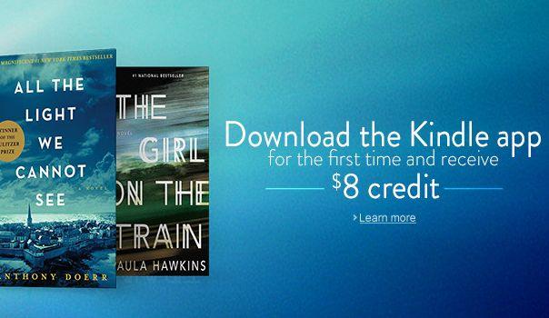 首次安装并使用Kindle App,限时送8元电子书消费券!