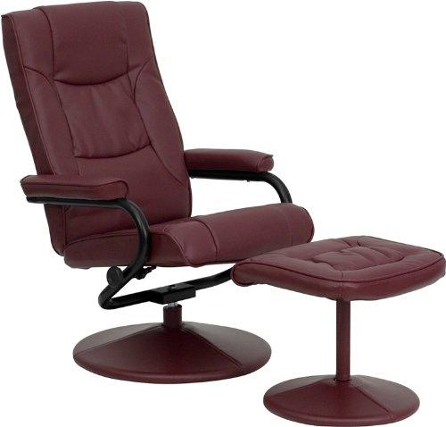 Flash Furniture BT-7862-BURG-GG 皮制躺椅+脚踏5.7折 138.95元限时特卖并包邮!
