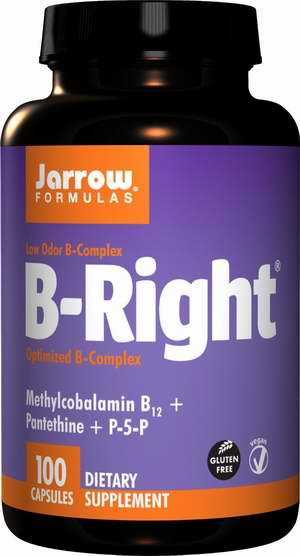 Jarrow Formulations Jarrow B-right Complex 杰诺维生素B族胶囊100粒8.1折 22.38元限量特卖并包邮!