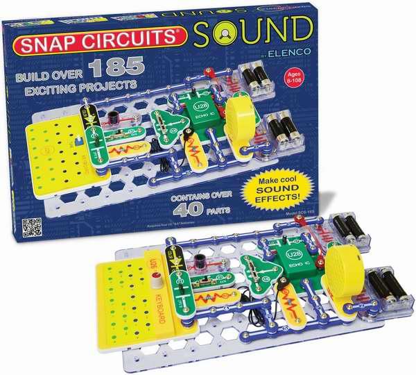 历史新低!Elenco Snap Circuits 声音电路DIY拼接玩具套装5折 55加元限时特卖并包邮!