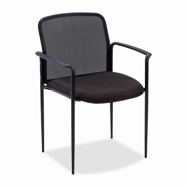Lorell 黑色钢制软垫座椅1.4折 18.04元清仓!