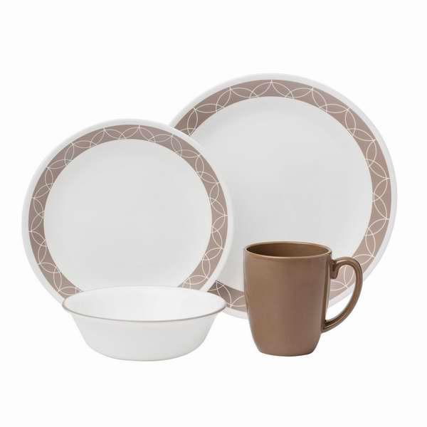 Corelle 康宁 Livingware 16件套餐具2.3折 15.22元清仓!