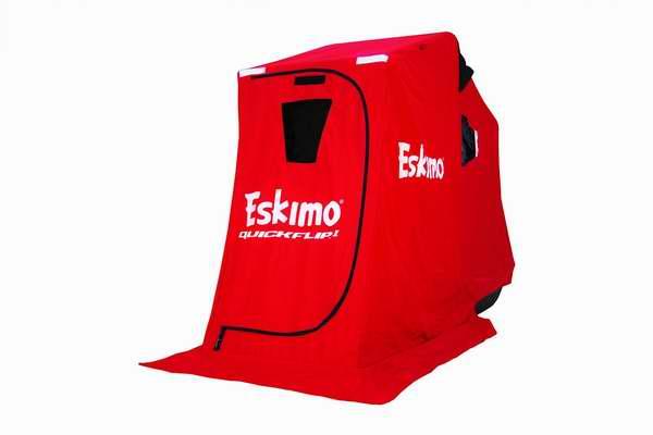 冰钓保暖神器!Eskimo QuickFlip 1 冬季防风帐篷2.8折 105.4元清仓并包邮!带三脚架椅