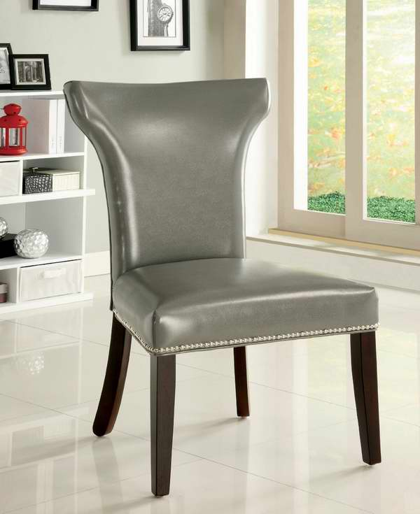 Furniture of America Eva Pewter 人造革餐椅2件套2.3折 119.09元清仓!