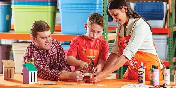 Home Depot 4月9日免费儿童手工课,制作木质蝴蝶屋,本月另有3个家庭装修免费课程