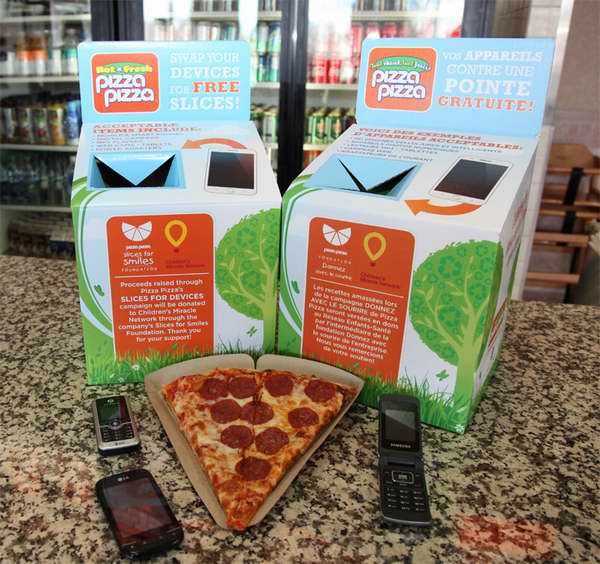 Pizza Pizza 4月地球环保月回收电子废旧品,免费换取披萨!