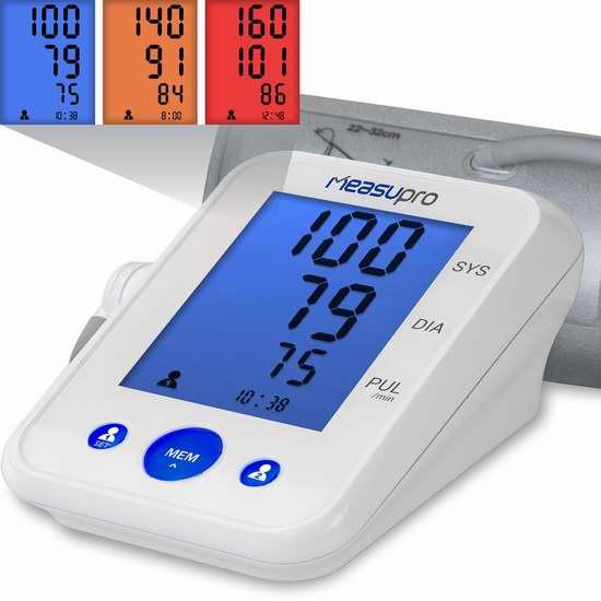MeasuPro BPM-20A 上臂式心率监测/电子血压计4折 39.99元限量特卖并包邮!