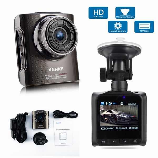 ANNKE X4 1080P 高清行车记录仪 69.99加元限量特卖并包邮!