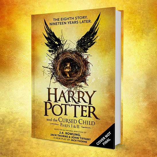 哈利波特系列第八本书《Harry Potter and the Cursed Child 哈利·波特与被诅咒的孩子》精装硬皮版预订价仅售21.18元,原价29.99元
