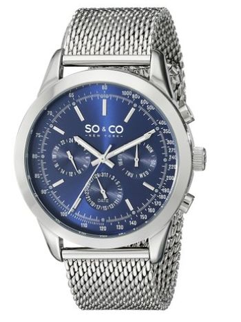 SO & CO New York 男士 5006A.2 时尚腕表 54.99元特卖,原价 65.45元,包邮